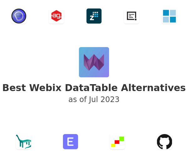 Best Webix DataTable Alternatives