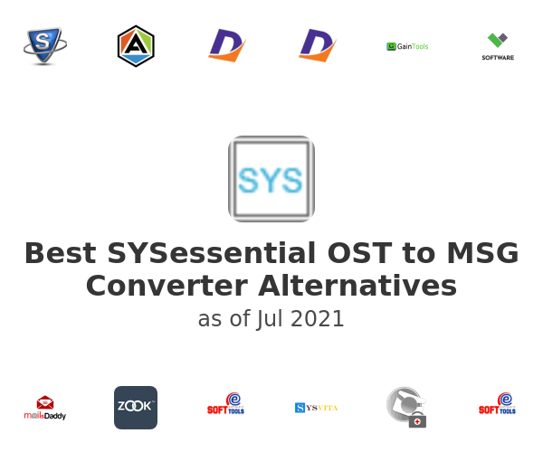 Best SYSessential OST to MSG Converter Alternatives