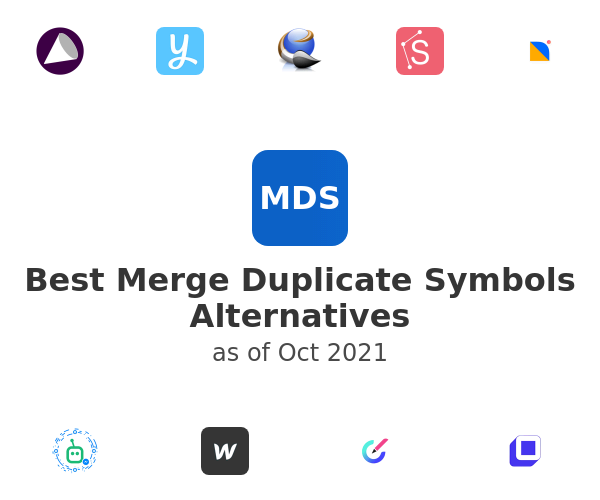 Best Merge Duplicate Symbols Alternatives