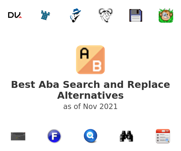 Best Aba Search and Replace Alternatives