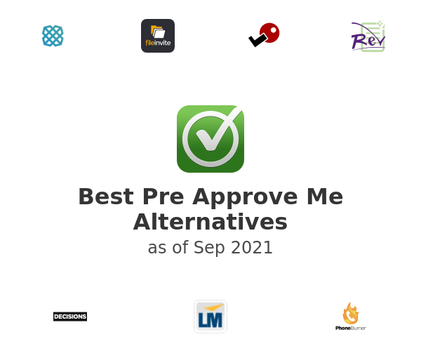 Best Pre Approve Me Alternatives