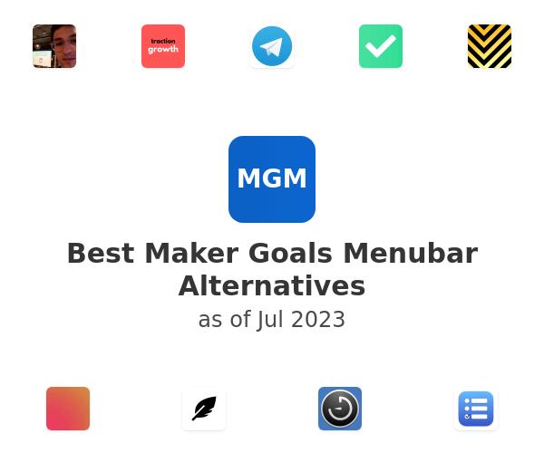 Best Maker Goals Menubar Alternatives