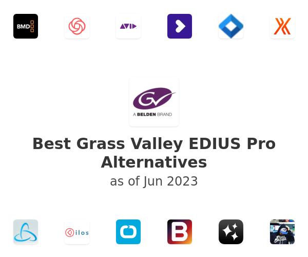 Best Grass Valley EDIUS Pro Alternatives