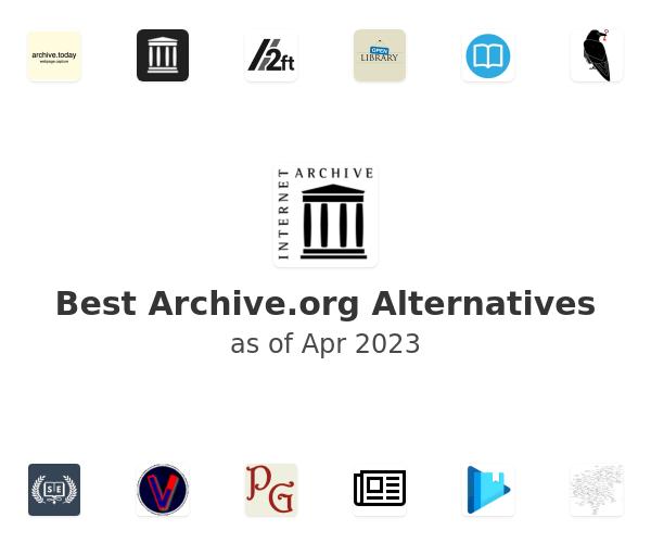 Best Internet Archive Alternatives