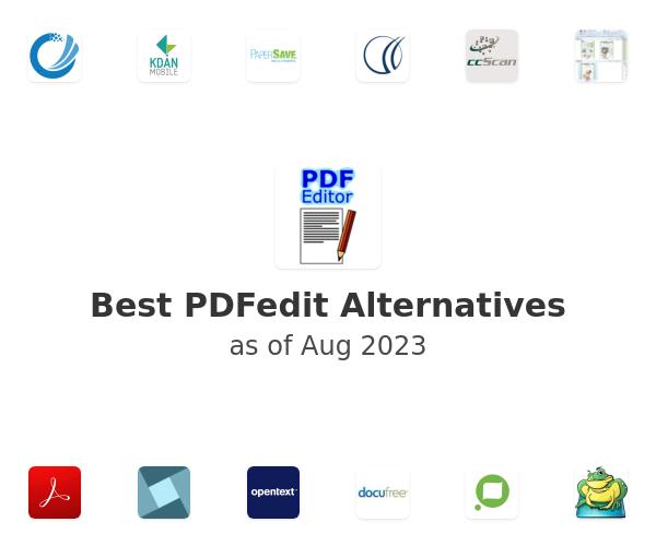 Best PDFedit Alternatives