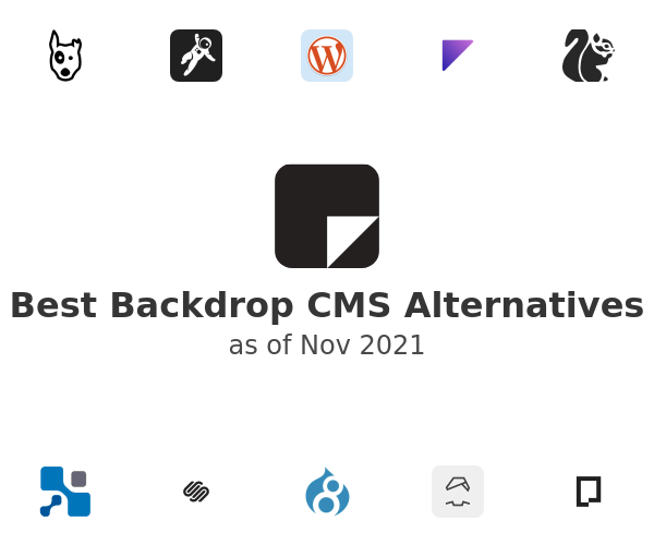 Best Backdrop CMS Alternatives