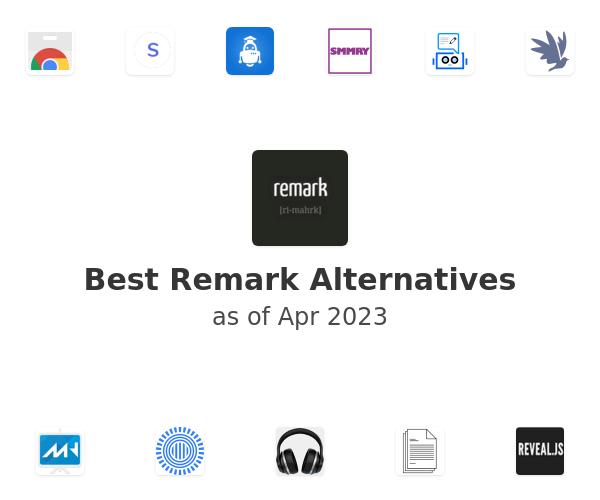 Best Remark Alternatives