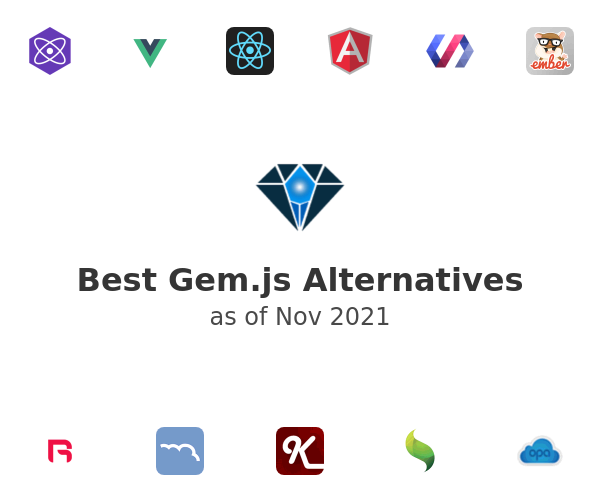 Best Gem.js Alternatives