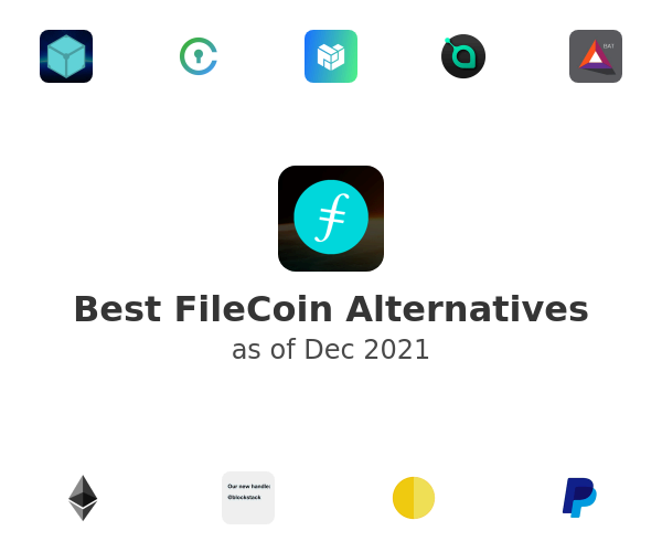 Best FileCoin Alternatives