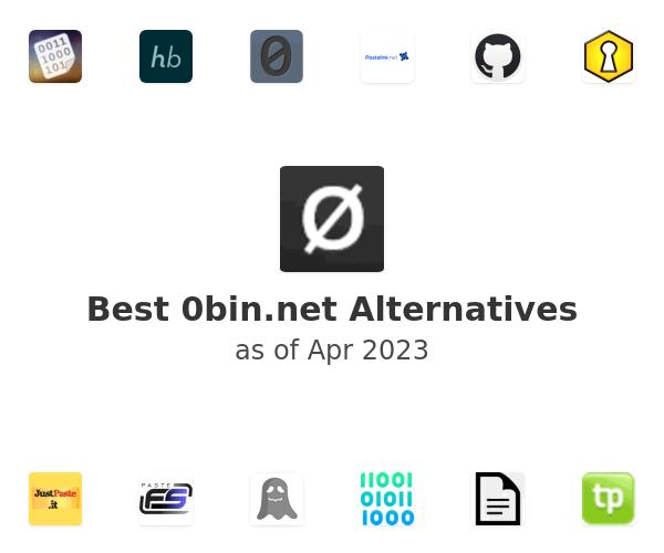 Best 0bin.net Alternatives