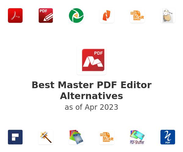 Best Master PDF Editor Alternatives