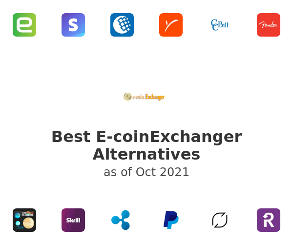 Best E-coinExchanger Alternatives