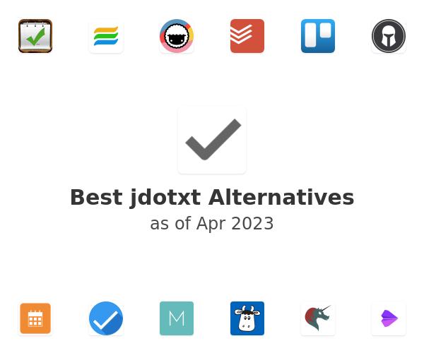 Best jdotxt Alternatives