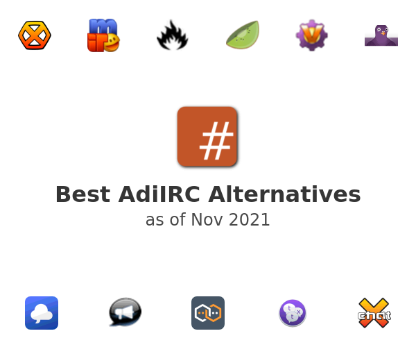 Best AdiIRC Alternatives