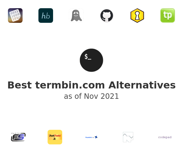 Best termbin.com Alternatives