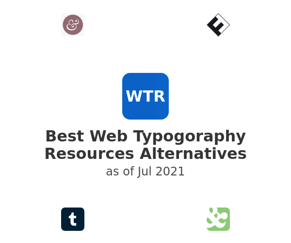 Best Web Typogoraphy Resources Alternatives