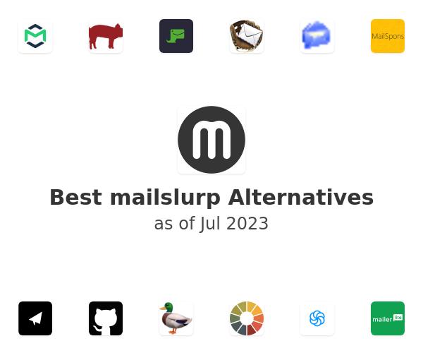 Best mailslurp Alternatives