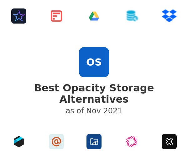 Best Opacity Storage Alternatives