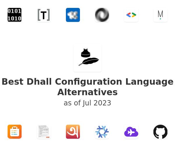 Best Dhall Configuration Language Alternatives