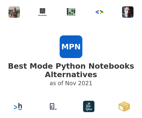 Best Mode Python Notebooks Alternatives