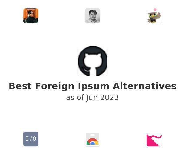 Best Foreign Ipsum Alternatives