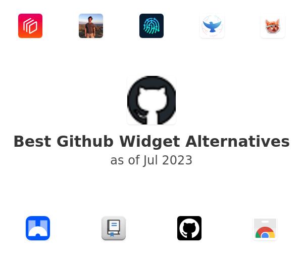 Best Github Widget Alternatives