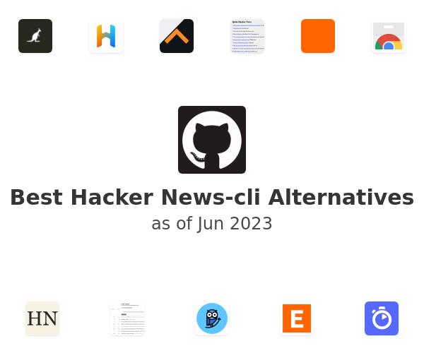 Best Hacker News-cli Alternatives