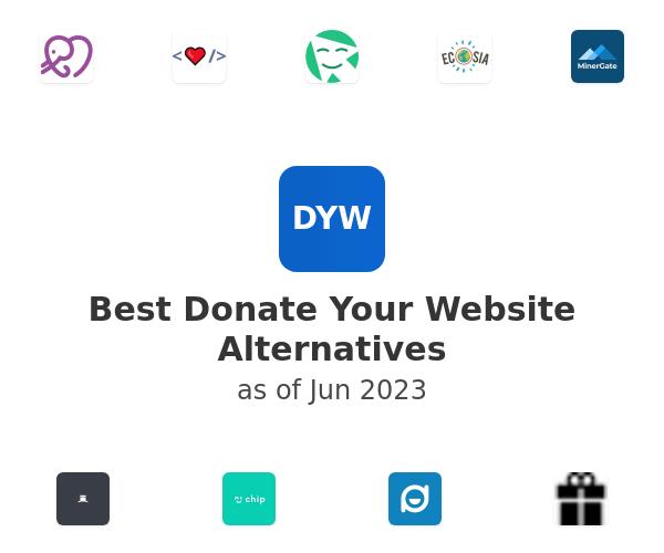 Best Donate Your Website Alternatives