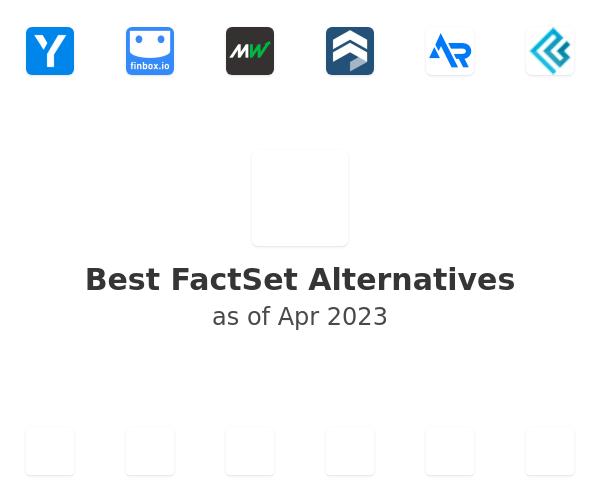 Best FactSet Alternatives