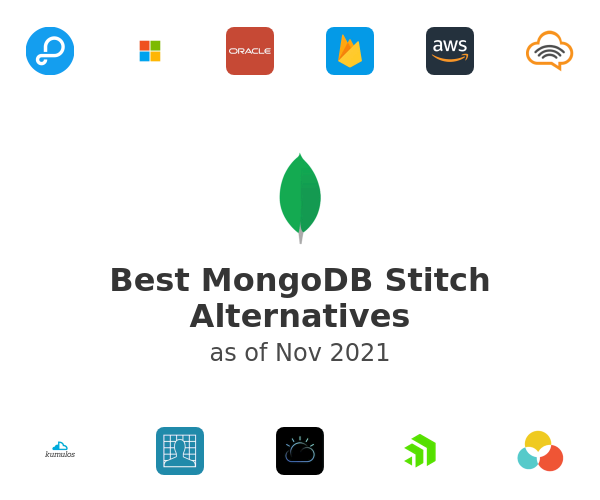 Best MongoDB Stitch Alternatives