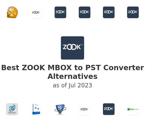 Best ZOOK MBOX to PST Converter Alternatives