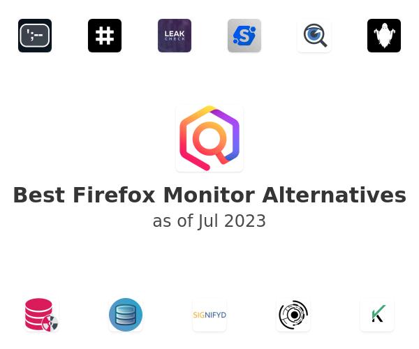 Best Firefox Monitor Alternatives