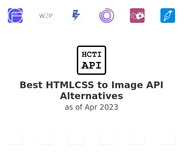 Best HTMLCSS to Image API Alternatives
