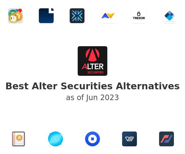 Best Alter Securities Alternatives