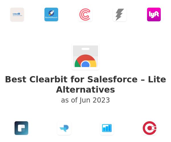 Best Clearbit for Salesforce – Lite Alternatives