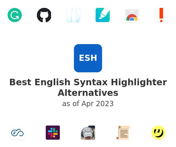 Best English Syntax Highlighter Alternatives