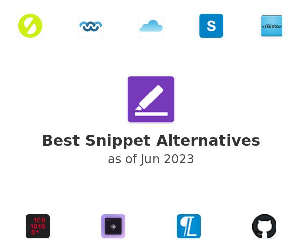 Best Snippet Alternatives