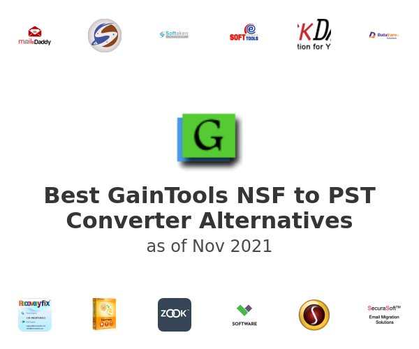 Best GainTools NSF to PST Converter Alternatives