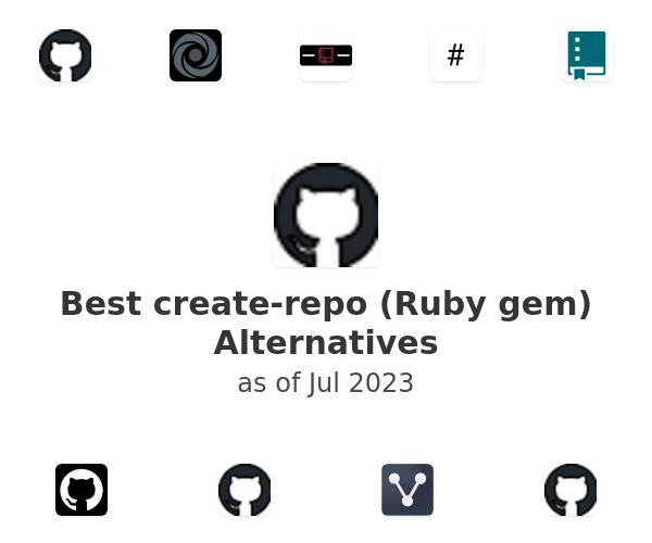 Best create-repo (Ruby gem) Alternatives