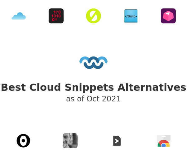 Best Cloud Snippets Alternatives