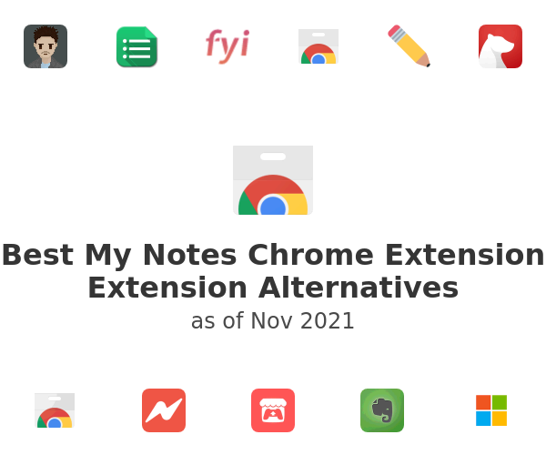 Best My Notes Chrome Extension Alternatives