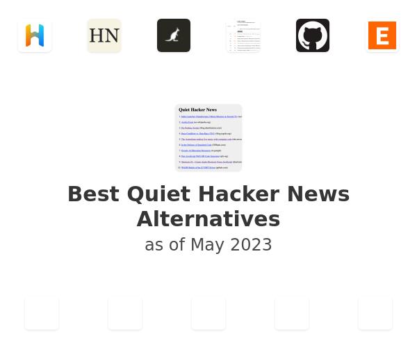 Best Quiet Hacker News Alternatives