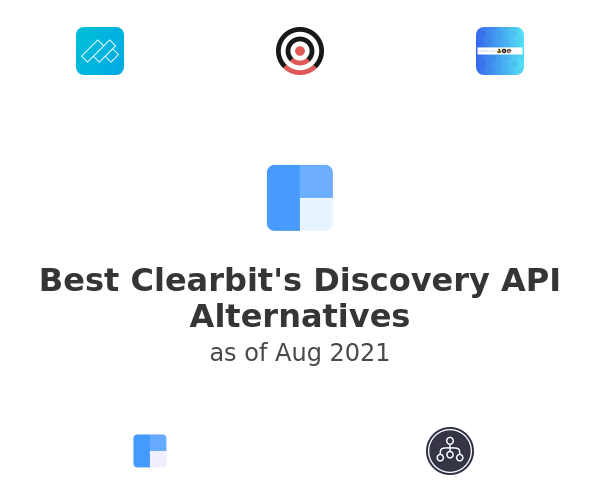 Best Clearbit's Discovery API Alternatives