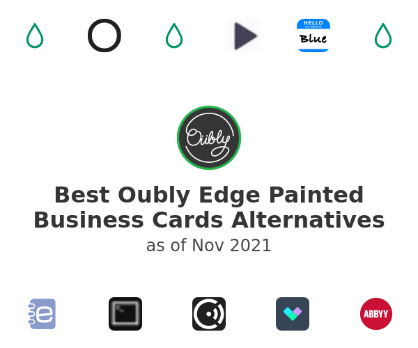 Best Oubly Edge Painted Business Cards Alternatives