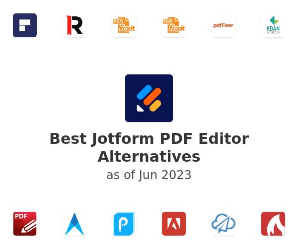 Best JotForm PDF Editor Alternatives