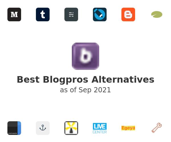 Best Blogpros Alternatives