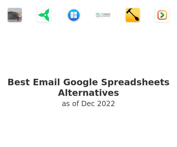 Best Email Google Spreadsheets Alternatives