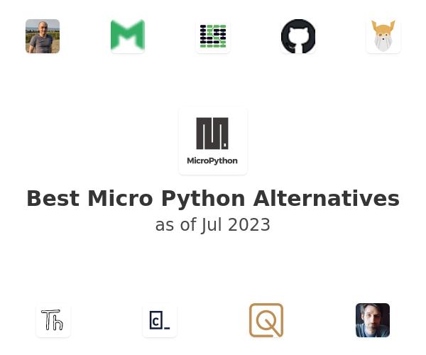Best Micro Python Alternatives