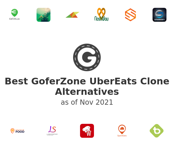 Best GoferZone UberEats Clone Alternatives