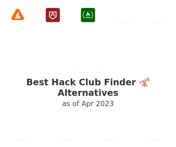 Best Hack Club Finder 🔭 Alternatives